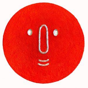 Masque lunaire rouge
